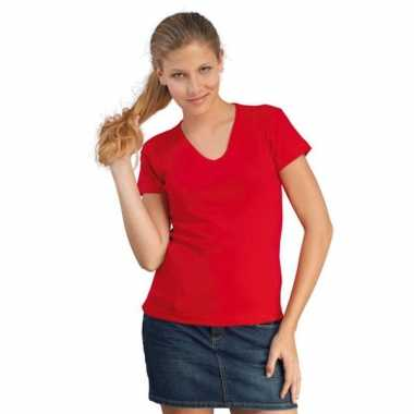 Dames t-shirt v-hals Body fit