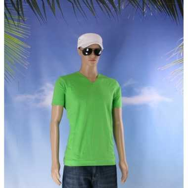 Lime heren t-shirt v hals